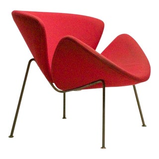 Early Red/Orange Slice Chair by Pierre Paulin For Sale