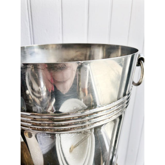 1960s Vintage 1960s Christofle Silver Plated Champagne Bucket For Sale - Image 5 of 8