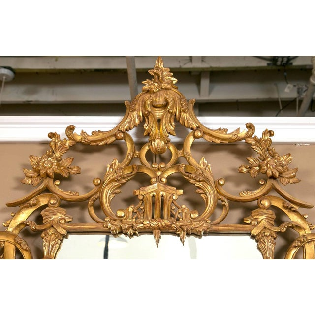 Italian Gilt Chinese Chippendale Mirrors - Pair - Image 6 of 7