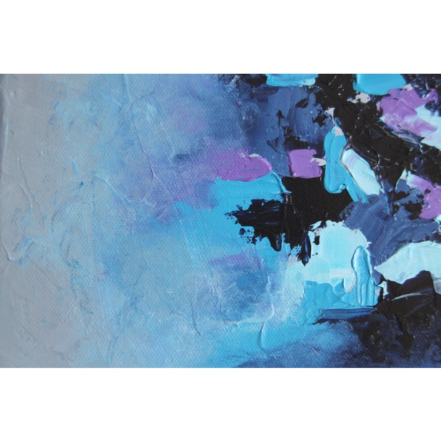 "Contemporary ""Harbor Mist,"" Acrylic Painting - Celeste Plowden For Sale - Image 3 of 4"