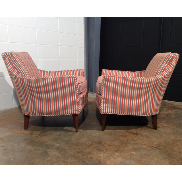 Mid Century Low Back Lounge Chairs - a Pair For Sale - Image 5 of 11