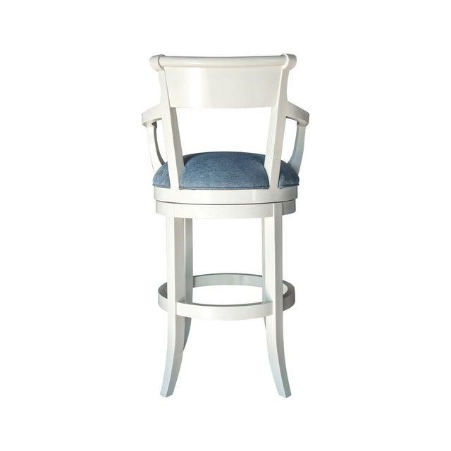 Transitional Fremarc Designs Veranda Swivel Barstool For Sale - Image 3 of 4
