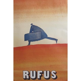 1971 Original French Theater Poster - Rufus by Folon For Sale