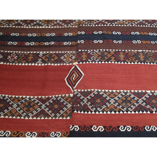 Antique Shavak Kilim For Sale - Image 7 of 8