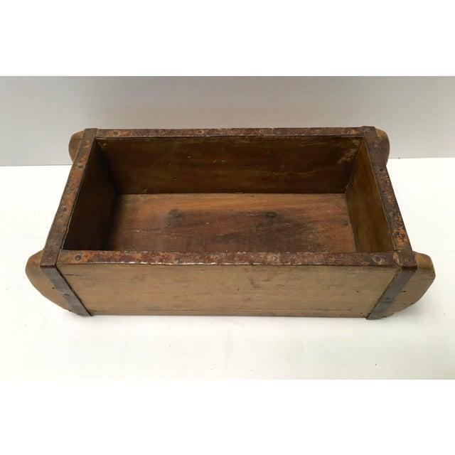 Primitive Antique Wood Brick Mold For Sale - Image 3 of 10