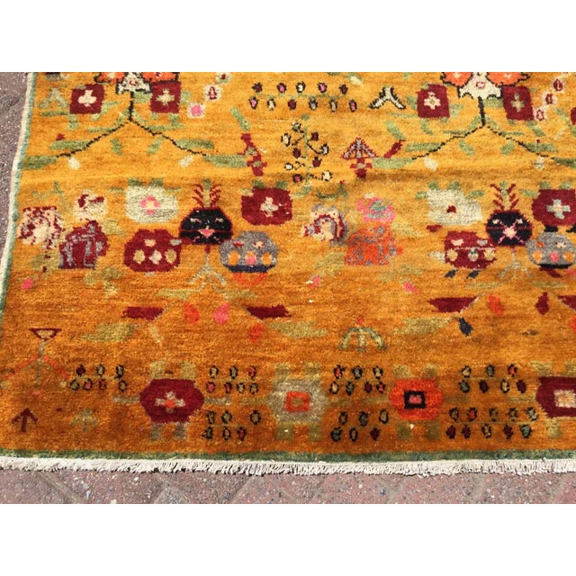 Orange Vintage Hand Knotted Turkish Rug For Sale In Raleigh - Image 6 of 11