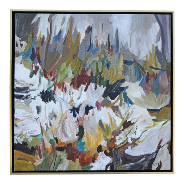 """""""Wild World"""" Abstract Landscape Painting by Laurie MacMillan, Framed For Sale"""