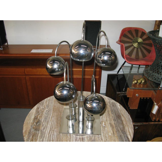 Robert Sonneman Chrome Ball Waterfall Lamp - Image 2 of 11