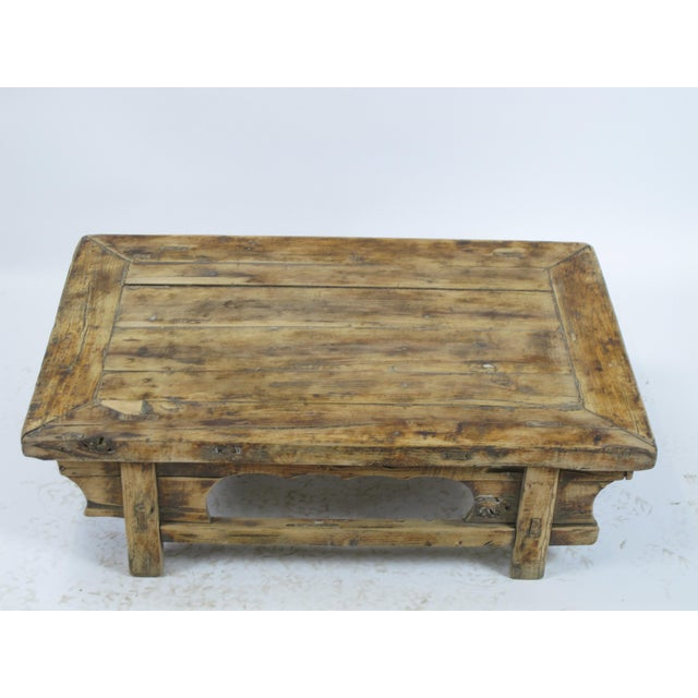 Low Rustic Accent Table For Sale - Image 4 of 5