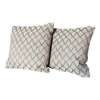 Contemporary Custom Designtex Pillows - a Pair For Sale