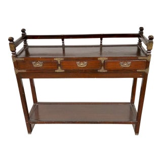 1950s Asian Sideboard Table For Sale