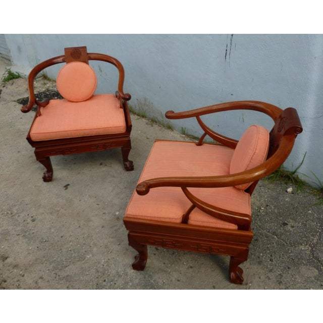1960s Ming Arm Chairs - a Pair For Sale - Image 4 of 10