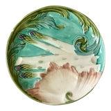 Image of 1880s Majolica Asparagus Plate Signed Keller Et Guerin Luneville For Sale