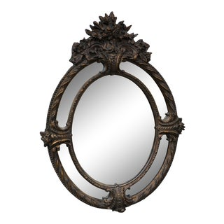 Early 19th Century Antique Hand Carved Mirror With Antique Glass For Sale