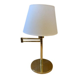 Vintage Brass Hansen Swing Arm Desk Lamp For Sale