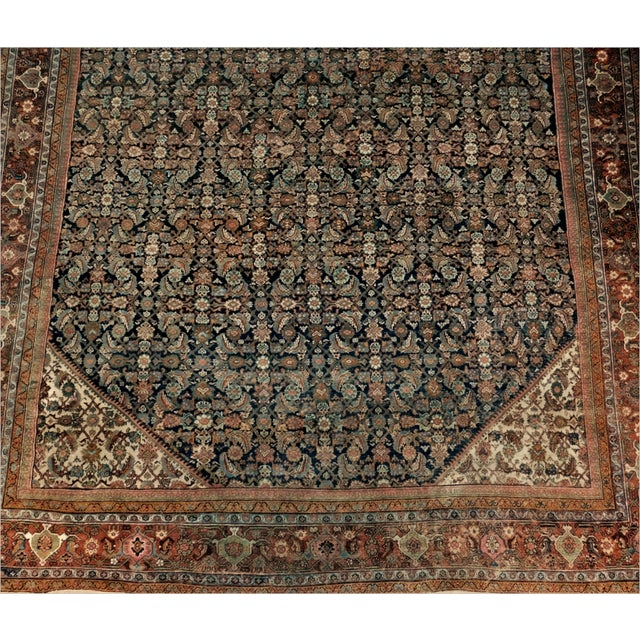 Late 19th Century Antique Persian Palatial Rug For Sale - Image 5 of 9