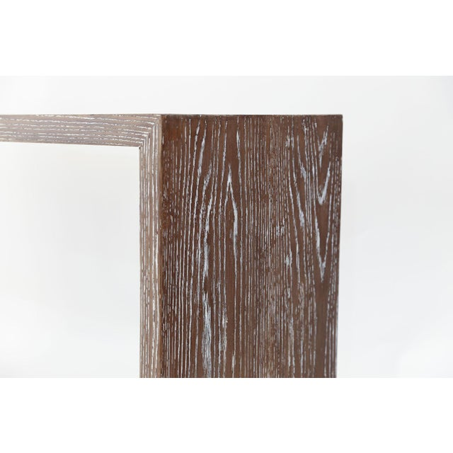 1960s Mid-Century Cerused Oak Console For Sale - Image 5 of 13