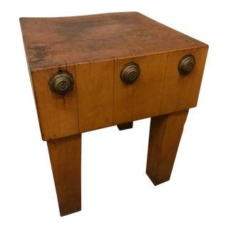 Vintage 1940s Maple Butcher Block Table
