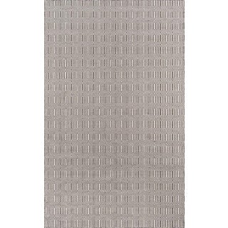 "Erin Gates Newton Holden Brown Hand Woven Recycled Plastic Area Rug 3'6"" X 5'6"" For Sale"