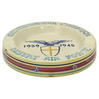 Italian Deruta Wwii Air Force Ashtray Preview