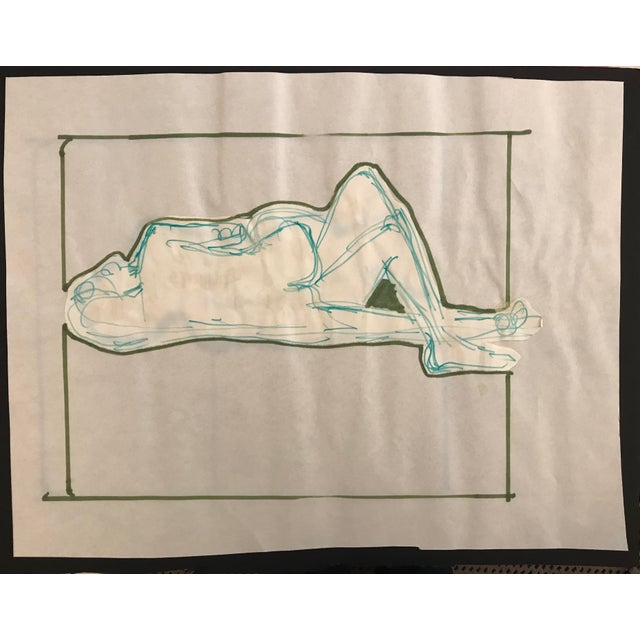 Figurative 1970s Vintage Hilliard Dean Embracing Couple Collage Drawing For Sale - Image 3 of 3