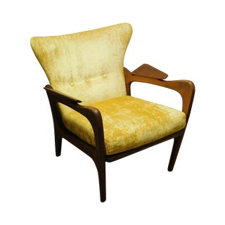 Adrian Pearsall Mid Century Modern Walnut Lounge Chair For Sale