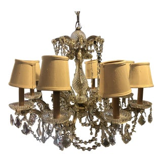 1960s Vintage Crystal Neo-Classical Style Chandelier For Sale