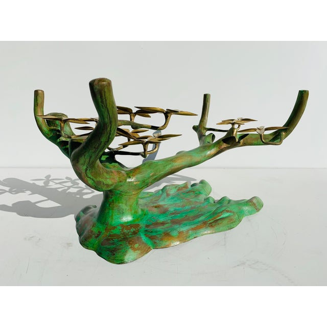 Gold Willy Daro Brass Bonsai Tree Coffee Table Base For Sale - Image 8 of 13