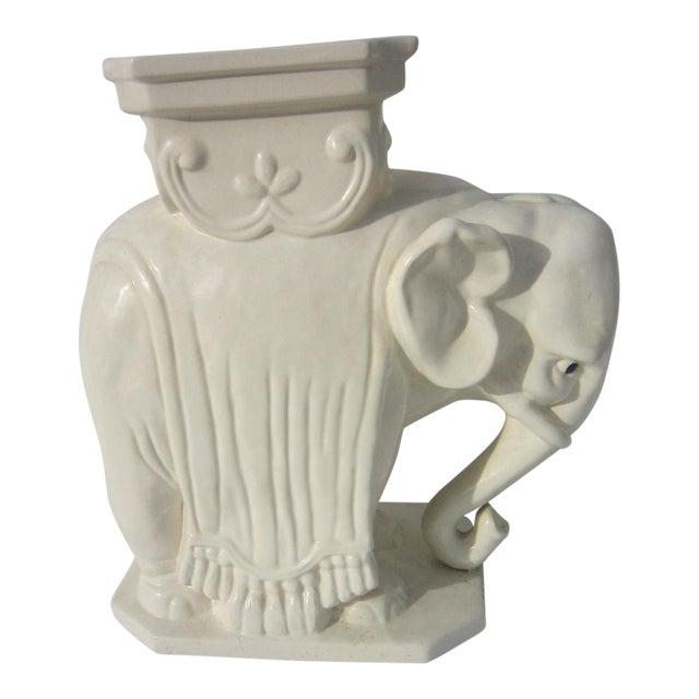 Ceramic Elephant Garden Stool - Image 1 of 6