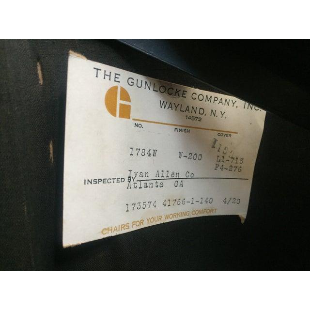 1970s Gunlocke Co. Yellow Swivel Office Chair - Image 10 of 10