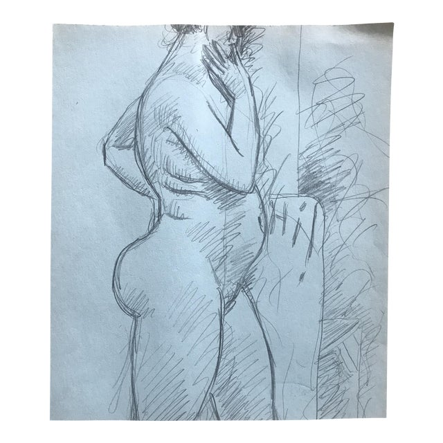 1970s James Bone Nude Woman Drawing For Sale