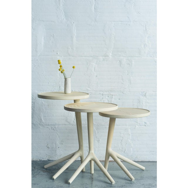White Ash Tripod Nesting End Tables - Set of 3 For Sale - Image 4 of 10