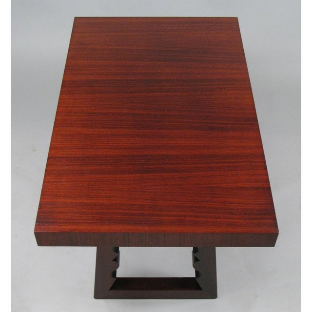 Mid-Century Modern 1948 Rosewood & Mahogany Cocktail Table by Andrew Szoeke For Sale - Image 3 of 7