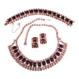 Image of 1950s Pink & Purple Rhinestone Set For Sale