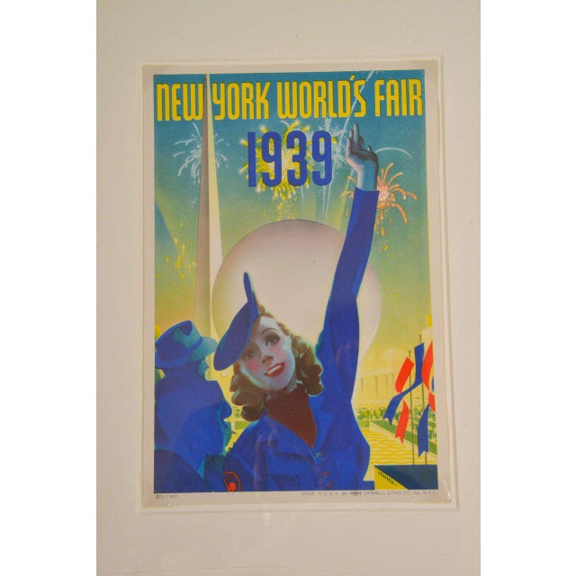 Lithograph 1939 Art Deco Machine Age Original New York World's Fair Posters Triptych For Sale - Image 7 of 9