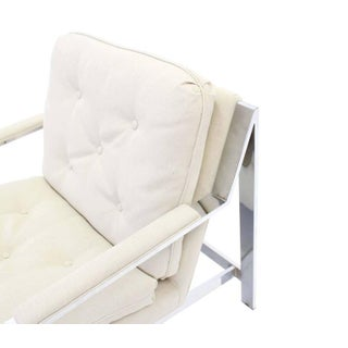Chrome Lounge Chairs With New Upholstery - A Pair Preview