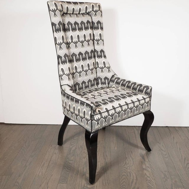 Mid-Century Modern Mid-Century Modernist High Back or Desk Chair w/ New Missoni Fabric For Sale - Image 3 of 7