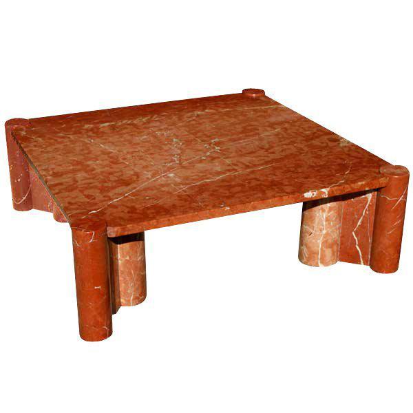Knoll Gae Aulenti Jumbo Marble Coffee Table Chairish