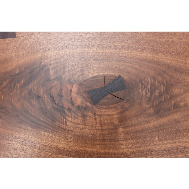 Rosewood Mira Nakashima Michiko Base Dining Table in Walnut With Rosewood Butterflies, New Hope 2018 For Sale - Image 7 of 11