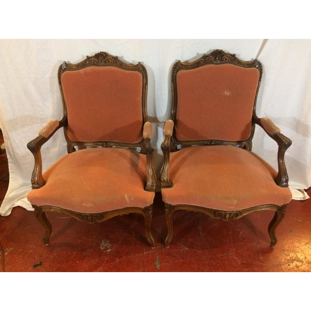 Louis XV Style Arm Chairs - a Pair For Sale - Image 11 of 11