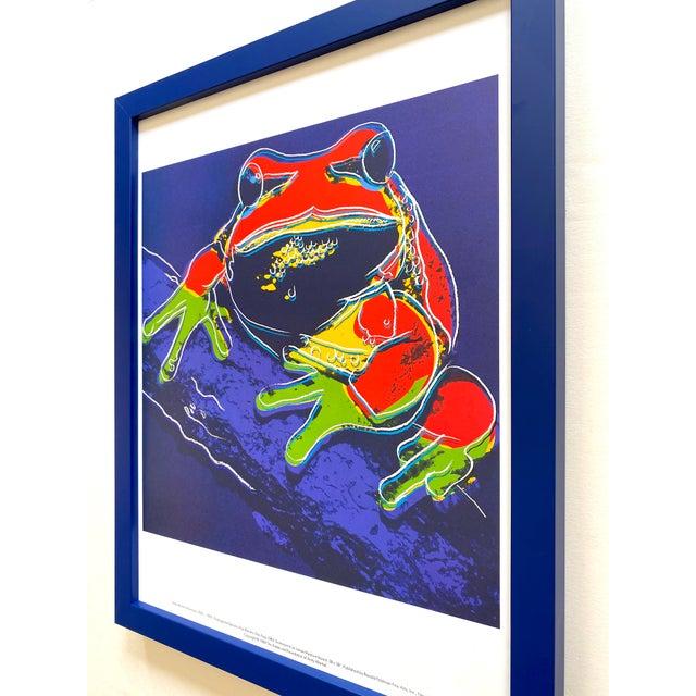 """Andy Warhol Estate Vintage 1989 Endangered Species Framed Lithograph Print """" Pine Barrens Tree Frog """" 1983 For Sale - Image 10 of 13"""