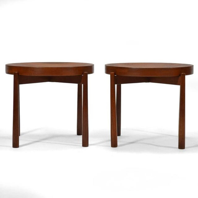 Swedish Solid Teak Flip-Top Tables in the Manner of Jens Quistgaard For Sale - Image 9 of 11