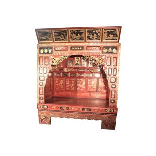 Antique Chinese Ceremony Bed For Sale