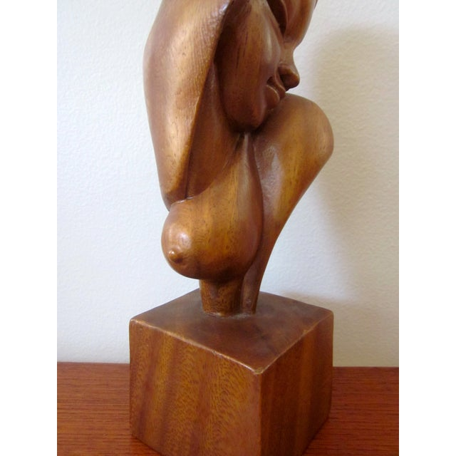 Alii Tiki Modernist Abstract Carved Wood Sculpture - Image 7 of 11