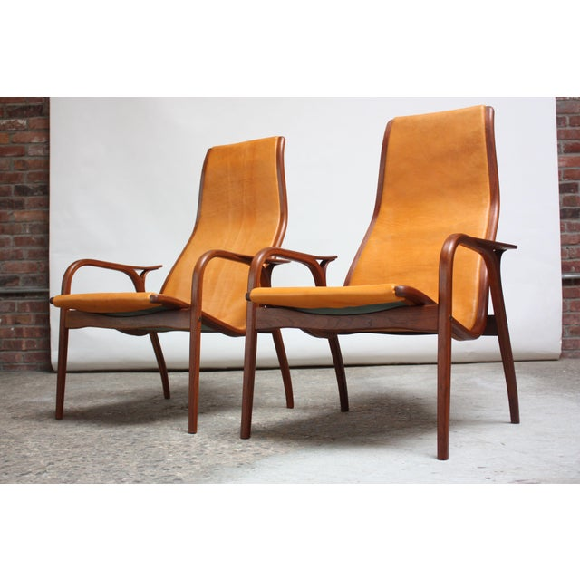 Yngve Ekström 'Lamino' Chairs for ESE-Möbler / Swedese, circa 1956, Sweden. Composed of laminated teak frames and newly...