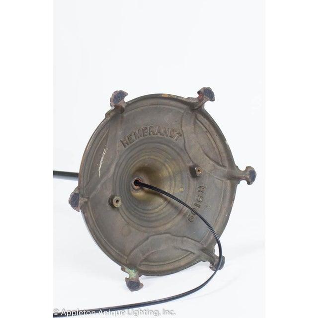 Elegant Restored Vintage Black and Gold Three Light Floor Lamp For Sale - Image 9 of 10