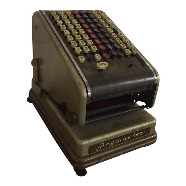 Vintage Paymaster 700 Check Writer - Image 1 of 9