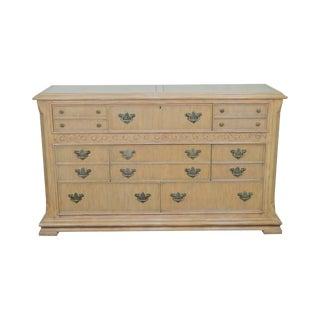 Maitland Smith Large Whitewash Dresser W/ Butlers Desk