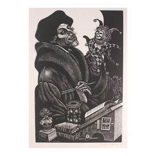 "Fritz Eichenberg ""In Praise of Folly 10 Original Woodengravings For Sale"
