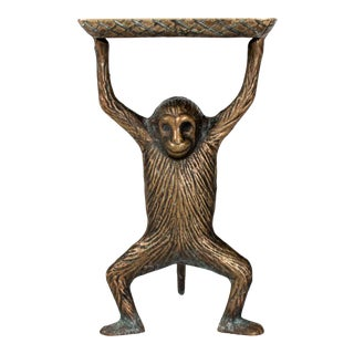 Brass Monkey Business Card Holder or Soap Dish For Sale